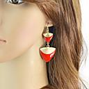 povoljno Naušnice-Žene Viseće naušnice Geometrijski Stilski Naušnice Jewelry Obala / Crn / Crvena Za Dnevno Spoj 1 par