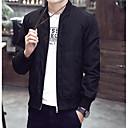 povoljno Muške jakne-Muškarci Dnevno Veći konfekcijski brojevi Normalne dužine Jakna, Color block Ovratnika Dugih rukava Poliester Crn