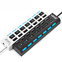 ieftine Huburi & switch-uri USB-USB 2.0 to USB 2.0 Hub USB 7 porturi Cu Switch (ES)