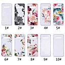 baratos Capinhas para Galaxy Série S-Capinha Para Samsung Galaxy S9 / S9 Plus / S8 Plus Transparente / Estampada Capa traseira Lace Impressão / Flor Macia TPU