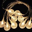 povoljno LED svjetla u traci-2m Žice sa svjetlima 10 LED diode Toplo bijelo Ukrasno AA baterije su pogonjene 1set