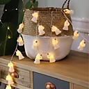 povoljno LED svjetla u traci-1.5m kreativne jednoredne svjetiljke od 10 svjetiljki, tople bijele ukrasne aa baterije za baterije u kompletu