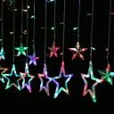 povoljno LED svjetla u traci-Zvijezdeće svjetiljke od 2,5m 138 imaju višeslojne zavjese za kućne zabave ukrasne 220-240 v 1 set