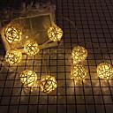povoljno LED svjetla u traci-3m kuglice za žice od ratana 20 led 20 tople bijele božićne kućice za vjenčanje ukrasne 220-240 v 1 set