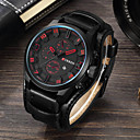 ieftine Ceasuri Bărbați-Bărbați Ceas Sport Ceas Elegant Ceas de Mână Japoneză Quartz Sport Piele Autentică Negru / Maro Rezistent la Apă Calendar Ceas Casual Analog Clasic Modă - Negru Negru / Galben Alb / Bej