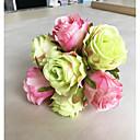 voordelige Kunstbloemen-Kunstbloemen 1 Tak Klassiek Europees Pastoraal Stijl Rozen Bloemen voor op tafel