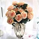 voordelige Kunstbloemen-Kunstbloemen 1 Tak Klassiek Europees Bruidsboeketten Rozen Bloemen voor op tafel