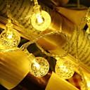 povoljno Mikroskopi i endoskopi-10m Žice sa svjetlima 100 LED diode Toplo bijelo Ukrasno 220-240 V 1set