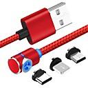 ieftine Cabluri & Adaptoare-Micro USB / Iluminare / Tip C Cablu 1m-1.99m / 3ft-6ft 1 la 3 Plastice / Aluminiu Adaptor pentru cablu USB Pentru Samsung / Huawei / Xiaomi