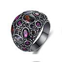 povoljno LED noćna rasvjeta-Žene Zaručnički prsten Prsten obećanja Kubični Zirconia 1pc purpurna boja Kamen Ovalnog Jednostavan Moda Boho Vjenčanje Angažman Jewelry Vintage Style Flower Shape Lijep