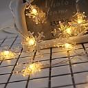 povoljno LED svjetla u traci-2m svjetlosne svjetiljke od 20 snopova s toplim bijelim novogodišnjim ukrasnim aa baterijama napajanim 1 set