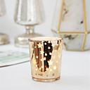 رخيصةأون Home Fragrances-الحديث المعاصر / أسلوب بسيط زجاج Candle Holders عيد ميلاد / الشمعدانات 1PC, شمعة / حامل شمعة