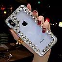رخيصةأون أغطية أيفون-غطاء من أجل Apple iPhone XS / iPhone XR / iPhone XS Max حجر كريم / شفاف / اصنع بنفسك غطاء خلفي حجر الراين ناعم TPU
