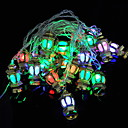 رخيصةأون Huawei أغطية / كفرات-4M هالوين عيد الميلاد سلسلة الأنوار الذهب قصر مصباح 20 المصابيح متعددة الألوان الزخرفية 220-240 فولت 1 مجموعة
