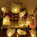 povoljno LED svjetla u traci-3M Žice sa svjetlima 20 LED diode Toplo bijelo Ukrasno 5 V 1set