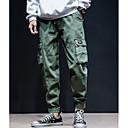Χαμηλού Κόστους Αντρικές Μπλούζες με Κουκούλα & Φούτερ-Ανδρικά Καθημερινά Chinos Παντελόνι - Μονόχρωμο Βαμβάκι Πράσινο του τριφυλλιού Μαύρο Γκρίζο XL XXL XXXL