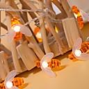 baratos Fitas e Mangueiras de LED-5 m mel abelha luzes da corda 40 leds branco quente ação de graças festa decorativa 220-240 v 1 conjunto