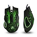 levne Chytré náramky-IMICE X9 Drátový USB Gaming Mouse Vedly dýchací světlo 800/1200/1600/2400 dpi 4 Nastavitelné úrovně DPI 6 pcs Klíče