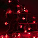 povoljno LED svjetla u traci-3m crvena svjetla od fenjera 20 svjetiljki novogodišnje kućne atmosfere ukrasne aa baterije napajane 1set
