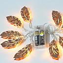 povoljno LED svjetla u traci-1.5m Žice sa svjetlima 10 LED diode Toplo bijelo Ukrasno AA baterije su pogonjene 1set