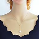 ieftine Colier la Modă-Pentru femei Y Colier Arcan Ieftin Simplu Modă Perle Crom Auriu Argintiu 46 cm Coliere Bijuterii 1 buc Pentru Zilnic