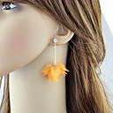 povoljno Naušnice-Žene Viseće naušnice Geometrijski Cvijet Stilski Slatka Style Naušnice Jewelry Obala / žuta Za Dnevno Spoj 1 par
