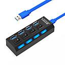 levne USB rozbočovače-USB 3.0 to USB 3.0 USB Hub 4 Přístavy Vysokorychlostní / S vypínačem (es)
