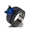 povoljno Baloner-Muškarci Prstenasti set Kubični Zirconia 1set Dark Blue Legura Circle Shape Boemski stil Casual / sportski Vjenčanje Angažman Jewelry neprilagođeno Sretan Cool