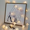 povoljno LED svjetla u traci-1.5m svjetla od ruža od 10 ručica 10 tople bijele svadbene valentinske zabave ukrasne aa baterije napajane 1set