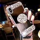 رخيصةأون أغطية أيفون-غطاء من أجل Apple iPhone XS / iPhone XR / iPhone XS Max ضد الصدمات / مع حامل غطاء خلفي حجر الراين قاسي أكريليك