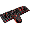 povoljno Bežični punjači-LITBest ZunX USB žičani Tipkovnica miša kombinirana Prijelaz boje / pozadinskim osvjetljenjem / Otporna na tekućine gaming tipkovnica / Ergonomska tipkovnica Svjetleći igraći miš / ergonomski miš