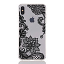 voordelige Huawei Mate hoesjes / covers-hoesje Voor Apple iPhone XS / iPhone XR / iPhone XS Max Transparant / Patroon Achterkant Lace Printing / Bloem Zacht TPU