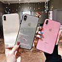 voordelige iPhone 6 Plus hoesjes-hoesje Voor Apple iPhone XS / iPhone XR / iPhone XS Max Transparant / Glitterglans Achterkant Effen Zacht TPU