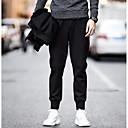 abordables Collar Hombre-Hombre Chic de Calle Tallas Grandes Diario Chinos Pantalones - Un Color Negro XXXL XXXXL XXXXXL