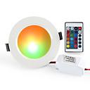 ieftine Becuri LED Plafon-1 buc 10 W 900-1000 lm 10 LED-uri de margele Telecomandă Intensitate Luminoasă Reglabilă Ușor de Instalat LED Tavan RGB + alb 85-265 V Rezidențial Acasă / Birou Living / Dinning / RoHs / CE