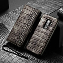 رخيصةأون جسم السيارة الديكور والحماية-غطاء من أجل Samsung Galaxy S9 Plus محفظة / حامل البطاقات / ضد الصدمات غطاء كامل للجسم لون سادة قاسي جلد PU