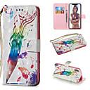 رخيصةأون أغطية أيفون-غطاء من أجل Apple iPhone XS / iPhone XR / iPhone XS Max محفظة / حامل البطاقات / مع حامل غطاء كامل للجسم رسم زيتي قاسي جلد PU