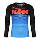 voordelige Motorhandschoenen-ktm moto gp team heren racekleding off-road jersey T-shirt rijden