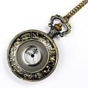 رخيصةأون إكسسوارات الساعات-رجالي ساعة جيب كوارتز برونز تصميم جديد ساعة كاجوال كوول مماثل عتيق قادم جديد - برونز