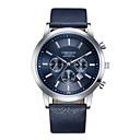 ieftine Ceasuri Bărbați-Bărbați Ceas Sport Ceas Elegant Ceas de Mână Quartz Piele Negru / Albastru / Maro Calendar Rezistent la Șoc Analog Lux Modă - Maro Albastru Negru / Alb Un an Durată de Viaţă Baterie / Oțel inoxidabil