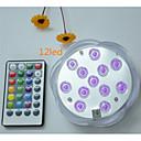 povoljno Vanjski fenjeri-1pc 5 W Podvodna svjetla Vodootporno / Daljinski upravljano / Zatamnjen RGB 4.5 V Prikladno za vaze i akvarije 12 LED zrnca