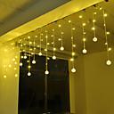 povoljno LED svjetla u traci-4m 96 leds ledenica zavjese svjetlo srebro stan željeza loptu niz svjetlo bijelo plavo toplo bijela roza ljubičasta crvena žuta više boja 220-240v 1pc