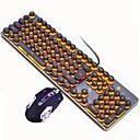 رخيصةأون لوحات المفاتيح-LITBest Punk USB سلكي كومبو لوحة المفاتيح الماوس لون متغاير / الخلفية / مضاد للتسرب لوحة مفاتيح الألعاب مضيء لعب الفأر / الماوس مريح 2400 dpi الألعاب