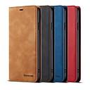 voordelige Galaxy S6 Edge Plus Hoesjes / covers-hoesje Voor Apple iPhone XS / iPhone XR / iPhone XS Max Portemonnee / Kaarthouder / met standaard Volledig hoesje Effen Hard PU-nahka