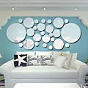 رخيصةأون ديكورات خشب-لواصق حائط مزخرفة - ملصقات الحائط على المرآة 3D غرفة الجلوس / غرفة النوم / مطبخ