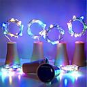 povoljno LED svjetla u traci-2m Žice sa svjetlima 20 LED diode SMD 0603 Toplo bijelo / Bijela / Više boja Vodootporno / Sunce / Ukrasno Napelemes 6kom
