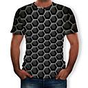 povoljno Maske/futrole za Huawei-Veličina EU / SAD Majica s rukavima Muškarci 3D Okrugli izrez Print Crn