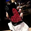 رخيصةأون Huawei أغطية / كفرات-غطاء من أجل Apple iPhone XS / iPhone XR / iPhone XS Max حجر كريم غطاء خلفي قلب / حجر الراين قاسي أكريليك