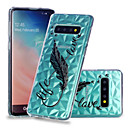 voordelige Galaxy S-serie hoesjes / covers-hoesje Voor Samsung Galaxy S9 / S9 Plus / S8 Plus Schokbestendig / Transparant / Patroon Achterkant Veren Zacht TPU