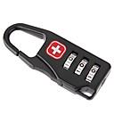 povoljno Zaštitne folije za LG-Lokot sa šifrom Dodatak za prtljagu Metal 1 kom. Crn Putni dodatak